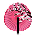 Fan and blossom Stock Photography