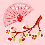 Fan and branch Stock Image