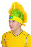 A fan of  Brazilian national football team Stock Photos