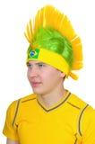 A fan of  Brazilian national football team Stock Photos
