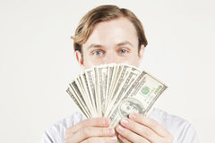 Fan of cash Royalty Free Stock Photos