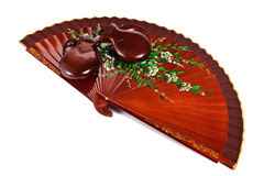 Fan with castanets Royalty Free Stock Photography