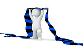 Fan 4. The character is a soccer fan and holding a black and  blue scarf in hands Royalty Free Stock Photography