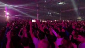 Fan che ballano e che saltano al concerto archivi video