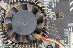 Fan in circuit Stock Photo