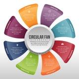 Fan circulaire Infographic Images libres de droits