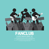 Fan Club The Big Fan Of The Band. Vector Illustration Royalty Free Stock Photos