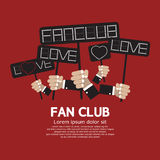 Fan Club Showing Message Board Royalty Free Stock Photo