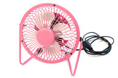 Fan color pink on white background Royalty Free Stock Photo