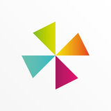 Fan colorful logo. For business Royalty Free Stock Photo
