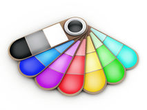 Fan of colour. On a white background. 3d illustration Royalty Free Stock Image