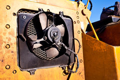 Fan on construction vehicles Stock Images