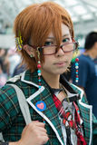 Fan in costume at an LA Anime Expo 2013 Royalty Free Stock Photo