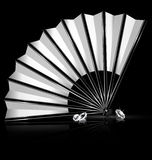 Fan and crystals Stock Images