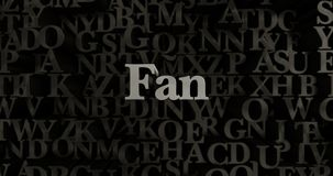 Fan - 3D a rendu l'illustration composée métallique de titre Photos libres de droits