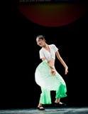 The fan dance basic training--Chinese folk dance Royalty Free Stock Photo