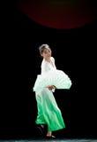 The fan dance basic training--Chinese folk dance Royalty Free Stock Photography