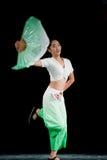 The fan dance basic training--Chinese folk dance Stock Photos