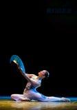 The fan dance basic training--Chinese folk dance Royalty Free Stock Image