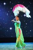The fan dance-Folk dance Royalty Free Stock Photos