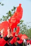 Fan dancing in China Stock Photos
