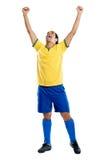 Fan de célébration du football photographie stock