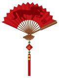 Fan de 2014 Chinois avec l'illustration de cheval illustration libre de droits