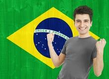 Fan de deportes brasileña Fotos de archivo