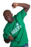 Fan de deportes loca de Nigeria Imagenes de archivo