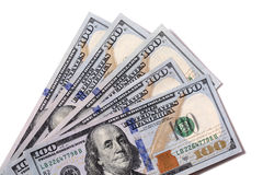 Fan de $100 factures d'isolement Image libre de droits