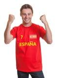 Fan de foot espagnol encourageant Photos stock