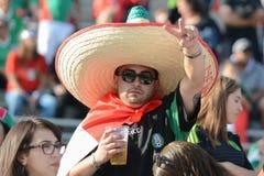 Fan de foot pendant le Copa Amérique Centenario photographie stock libre de droits
