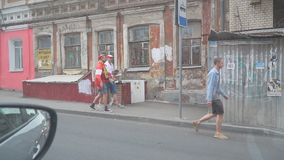 Fan de futebol dinamarqueses nas ruas do Samara filme