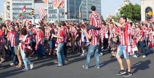 Fan de futebol do clube de Athletic Bilbao Imagem de Stock Royalty Free