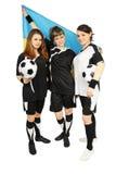 Fan de futebol ucranianos Imagens de Stock Royalty Free
