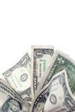 Fan de los billetes de dólar uno Foto de archivo libre de regalías