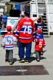 Fan de los canadienses de Montreal Fotografía de archivo
