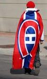 Fan de los canadienses de Montreal Imágenes de archivo libres de regalías