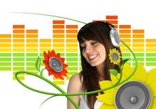 Fan de música joven feliz Foto de archivo libre de regalías