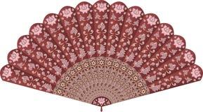 Fan de main avec le modèle floral Image stock