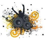 Fan de música Imagem de Stock