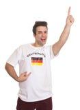Fan de sports allemande heureuse avec les cheveux noirs Photo libre de droits