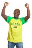 Fan de sports encourageant du Ghana image libre de droits