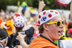 Fan de Tour de France de le Photographie stock
