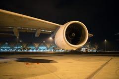 Fan de Turbo d'un avion Image stock