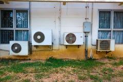 Fan del compressore dei condizionatori d'aria Fotografia Stock