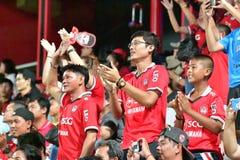 Fan del fútbol Tailandia en el fútbol internacional Invi de Bangkok Fotografía de archivo