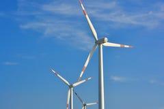 Fan del generador del molino de viento Imagenes de archivo