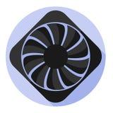 Fan del ordenador de la imagen del vector Imagen de archivo libre de regalías