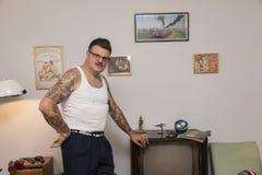 Fan del Rockabilly de Igor Recek Croatian Imágenes de archivo libres de regalías
